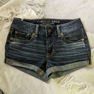 American eagle super stretch shortie shorts